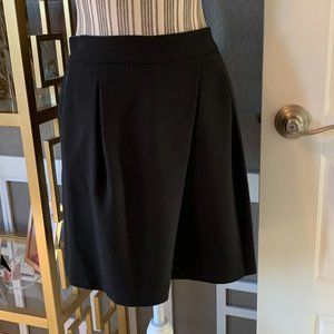 Halston Heritage Black Pleated Mini Skirt NWT